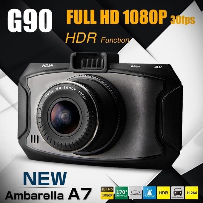 G90 Ambarella A7 5.0M FHD 1080P G-Sensor @Geekbuying+Free Sample $39.49