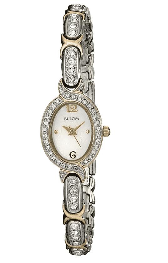 שעון נשים Bulova Swarovski Crystal Two Tone Bracelet Watch רק 117$ כולל מיסים ומשלוח עד הבית!