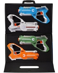 Dynasty Toys Laser Tag Set and Carrying Case for Kids Multiplayer 4 Pack ירידת מחיר 85$ כולל משלוח לארץ הקודש.