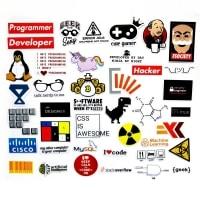 מארז 40 מדבקות משעשעות לגיקים: מתכנתים / גיימרים – להדבקה על הלאפטופ – ב-2.09  $ !