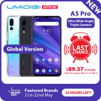 Global Version UMIDIGI A5 PRO Android 9.0 Octa Core 6.3' FHD+ Waterdrop 16MP Triple Camera 4150mAh 4GB RAM 4G Celular Smartphone-in Cellphones from Cellphones & Telecommunications on Aliexpress.com | Alibaba Group