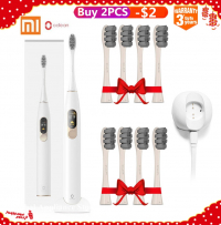 Xiaomi Mijia Oclean X Sonic Electric Toothbrush+8Pcs Heads Upgraded Waterproof Ultrasonic Automatic Toothbrush USB Rechargeable-in Electric Toothbrushes from Home Appliances on Aliexpress.com | Alibaba GroupOclean X מברשת שיניים חשמלית אולטרסונית חכמה + 4 ראשים נוספים למברשת