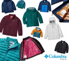 Columbia Powder Lite | מעיל מבודד לפעוטות, ילדים ונוער – מגוון צבעים רק ב₪172 – ₪73!