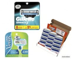 Gillette   מגוון סכיני גילוח בדיל היום באמזון עם משלוח חינם!