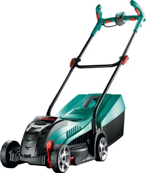 """מכסחת דשא חשמלית Bosch Rotak 32 LI 36V רק ב1190 ש""""ח!"""
