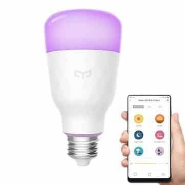 מנורה חכמה עם WIFI וכל צבעי הקשת – Xiaomi Yeelight YLDP06YL E27 10W RGBW רק ב$14.99