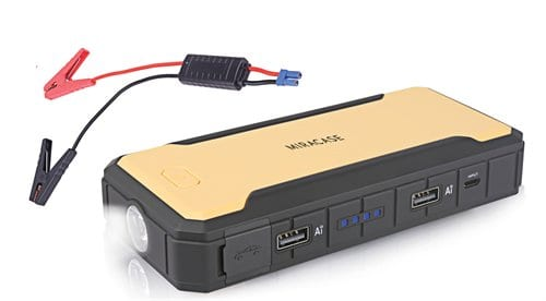 סוללת חירום ניידת להתנעת הרכב Miracase 12000mAh PowerBank USB – רק ב₪232