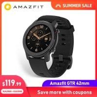 Amazfit GTR 42mm – השעון החכם הכי יפה, עם הסוללה הכי טובה שגם כולל עברית! גרסא גלובלית במחיר נדיר! רק ב$85.99!