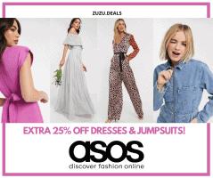 מטורף!!! קופון 25% הנחה על שמלות ואוברולים בASOS!