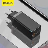 המטען המהיר הכי משתלם ברשת! Baseus 65W GaN Charger – מטען Quick Charge 4.0 וUSB-C PD 65W +כבל USB-C 100W רק ב $24.77!!!