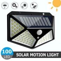 תאורה אוטומטית סולארית עם חיישן קרבה ו100 לדים רק ב5.99$!