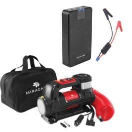 בלעדי! חבילת חירום לרכב! מדחס אוויר (+פנס) + סוללת חירום/ג'אמפר מבית MIRACASE רק ב₪349 ומשלוח חינם!