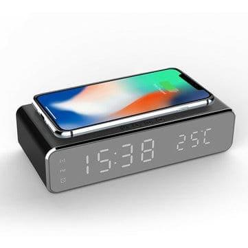 שעון מעורר דיגטלי + מדחום + מטען אלחוטי משולב רק ב$9.99!