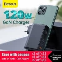 מטען חחחחחזק! Baseus 120W GaN USB Charger עם תמיכה בהטענת מחשבים (אפילו 2!), טאבלטים ועוד בשלל טכנולוגיות הטענה מהירה – QC4.0 QC3.0 PD3.0 רק ב$37.71