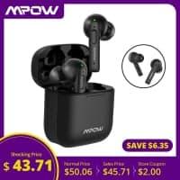 Mpow X3 – אוזניות הTWS המשתלמות בעולם? עמידות למים, סוללה חזקה, סאונד טוב וסינון רעשים אקטיבי (!) רק ב$40.11!