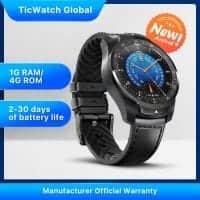 TicWatch Pro 2020! רק ב$190.79! שעון חכם עם 2 מסכים וANDROID WEAR! החל מ₪530! (בזאפ ₪999)
