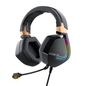 BlitzWolf® BW-GH2 – אוזניות גיימינג חדשות עם 7.1 ערוצים, USB,RGB, רק ב$27.99 (הזמנה מוקדמת)