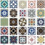 US $0.86 35% OFF|15pcs/set 8/12/15cm Europe Style Floor Tiles Diagonal Wall Stickers Bathroom Kitchen Waist Line Art Mural Tile Vinyl Wall Decals|Wall Stickers|