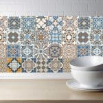 US $0.98 24% OFF|Arabic Retro Tile Stickers For Kitchen Bathroom PVC Self Adhesive Wall Stickers Living Room DIY Decor Wallpaper Waterproof|Wall Stickers|