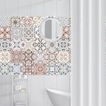 US $0.98 24% OFF|Arabic Style Mosaic Tile Stickers For Living Room Kitchen Retro 3D Waterproof Mural Decal Bathroom Decor DIY Adhesive Wallpaper|Wall Stickers|