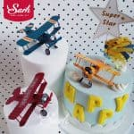US $2.05 11% OFF|Red Blue Yellow Retro Airplane Cake Decorations Birthday Party Decorations for Baking Cute Gifts|Cake Decorating Supplies|