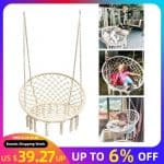 US $39.27 19% OFF|Round Hammock Chair Outdoor Indoor Dormitory Bedroom Yard For Child Adult Swinging Hanging Single Safety Chair Hammock|Hammocks|
