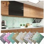 US $4.39 |Mosaic Wall Tile Peel and Stick Self adhesive Backsplash DIY Kitchen Bathroom Home Wall Sticker Vinyl 3D|Wall Stickers|