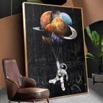 US $4.52 56% OFF|WANGART Astronaut Space Dreaming Stars Limit Oil Painting Canvas Wall Pictures for Living Room Posters and Prints Home Decor|Painting & Calligraphy|
