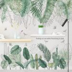 US $5.39 42% OFF|29 Kinds Big Green Leaves Wall Stickers for Living Room Bedroom Dining Room Decoration Wall Decals Poster Murals Baby Nursery|Wall Stickers|