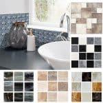 US $6.3 33% OFF|Funlife 10*10cm*18pcs Mosaic Self Adhesive Waterproof DIY Wall Art Home Bedroom Bathroom kitchen Tile Sticker Wall Sticker|Wall Stickers|