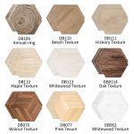 US $7.24 37% OFF|Funlife 10 Pcs Whitewood Beech Maple Oak Walnut Hickory Texture Hexagon Ground Stickers Waterproof Self Adhesive Wall Sticker DB|Wall Stickers|
