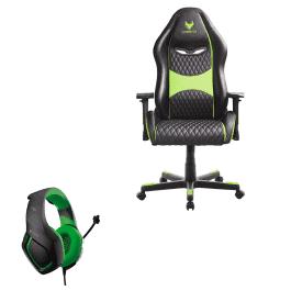 כיסא גיימרים SPARKFOX + אוזניות SPARKFOX K1 רק ב799 ₪ כולל משלוח! (כחול/ירוק)