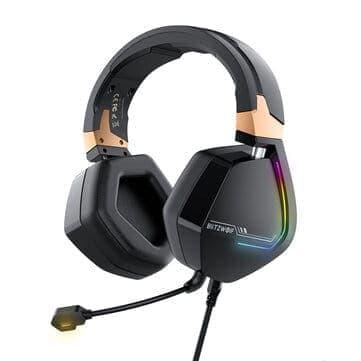 BlitzWolf® BW-GH2 – אוזניות גיימינג עם 7.1 ערוצים, RGB