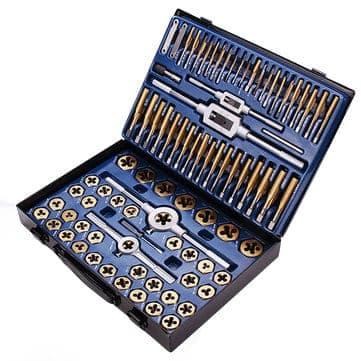 Drillpro 86 חתיכות של ברזל ואלומינום עם כלים מתאימים
