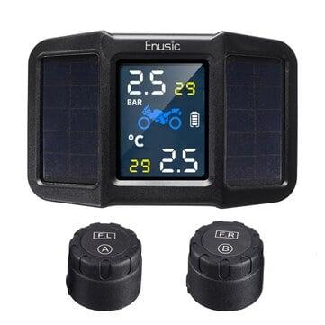 Enusic™ T400 Solar – מערכת TPMS לאופנוע – לשמירה על לחץ אוויר תקין – עם טעינה סולארית/USB רק ב$23.99