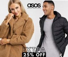 מתכוננים לחורף! קופון חדש! אקסטרה 25% הנחה על מעילים, מגפיים, סוודרים ועוד! בASOS!