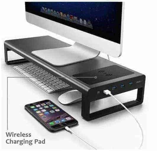 פנו מקום על השולחן עם מעמד למסך המחשב עם חיבורי USB וטעינה אלחוטית! $54.71-57.59